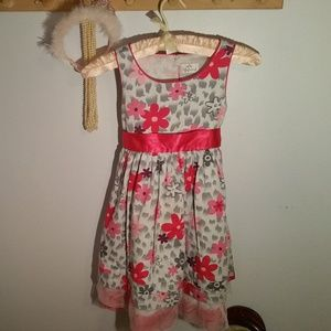 Lilybird Size 6X Pink Flowered Formal Girls Dress